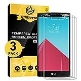 [3 Pièces] LG G4 Film Protection d'Écran En Verre Trempé (0,26mm HD ) NEARPOW...