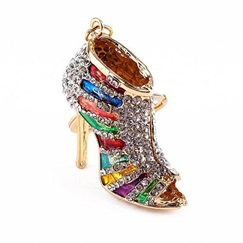 Hilitand llavero colorido de cristal con tacones altos llavero con diamantes de...