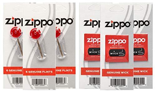 Zippo 3w3f Flint/Wick Co-Pack, One Size