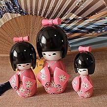 Ufcell Japanese Doll Kimono Doll (3 Pieces in 1 Set  Home Decor Restaurant Bedroom Decorations Dolls for Girls Women Novel...