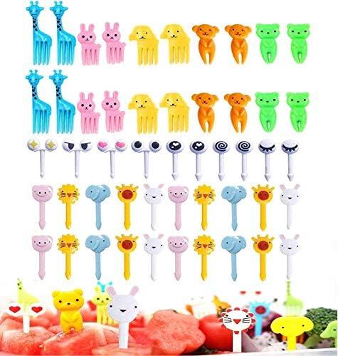 50 Pcs Food Fruit Fork Picks for Kids Cute Animals Bento Box Decor ForksCake Little Forks Dessert product image