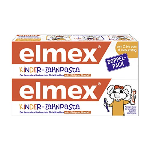 ELMEX PL07990A Kinder-Zahnpasta, 2-6 Jahre, Doppelpack (2 X 50 Ml)