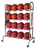 Wilson WTB1801 Carro Baloncesto con Ruedas con 4 estantes Incluidas, Unisex-Adult, Acero, hasta 16 Pelotas