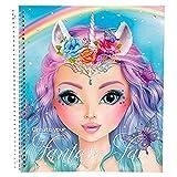 Create Your Fantasy Face Colouring Book Unicorn