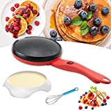 Electric Crepe Maker, Portable Crepe Maker With Non-Stick Coating, Crepes, Crepes, Pancakes, Bacon, Corn Tortillas With Automatic Temperature Control