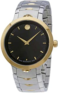 Movado Mens Swiss-Quartz Watch with Two-Tone-Stainless-Steel Strap,