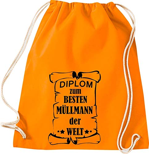 Camiseta stown Turn Bolsa Diploma para mejores Muñeco de basura del Mundo, naranja