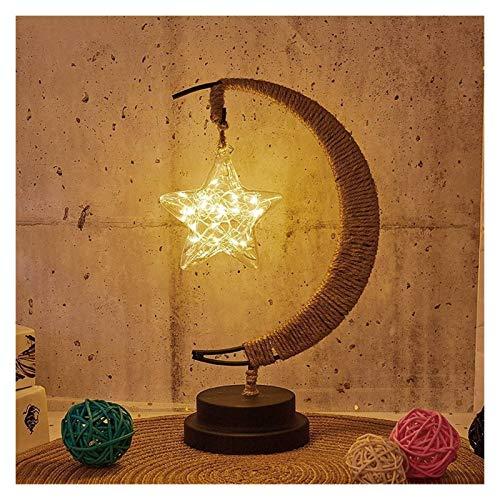 Aiglen Lámpara de Noche LED Estrellas Luna Luz Bola de rat�