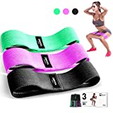 OMERIL Resistance Bands Set, 3 Packs Fabric Workout Bands with 3 Resistance Levels