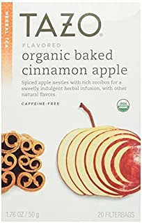 Tazo Herbal Tea Bags, Organic Baked Cinnamon Apple 20 ea (Pack of 2)