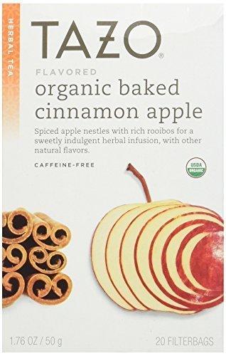 Tazo Herbal Tea Bags, Organic Baked Cinnamon Apple 20 ea (Pack of 2)