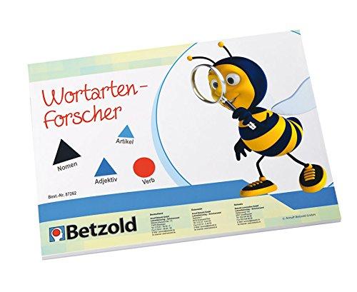 Betzold 87262 - Montessori-Material Wortartenforscher, magnetische Symbole - Deutsch Lehrmittel