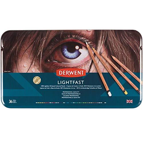Derwent 2302721 - Set di 36 matite colorate, qualità professionale