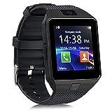 Winnes Smartwatch, Equipado Con Cámara TF / Ranura Para Tarjeta SIM, Función Impermeable Con Podómetro, Reloj Inteligente De Monitoreo Del Sueño Para Hombres Y Mujeres (Negro)