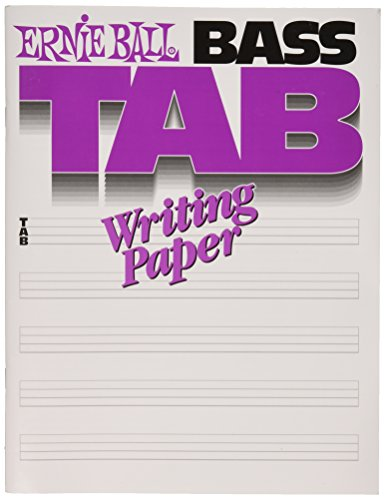 Ernie Ball 7022 Bass Tab Writing Paper Book