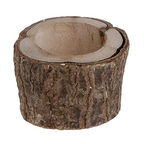 Koobysix 1 stuk creatieve houten kandelaar kandelaar staande cactus vetplant bloempot rustieke bruiloft decoratie 3 maten Medium