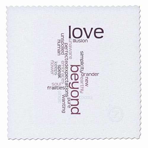 3dRose qs_29527_1 Love Beyond Words Poetry Inspiration-Quilt Square, 10 by 10-Inch