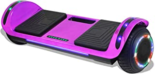 Longtime Hoverboard Self Balancing Longboard Scooter with LED Lights Flashing Wheels - UL Certified