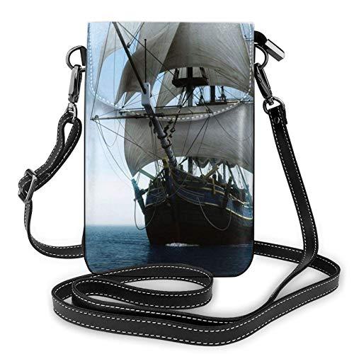 Bolso ligero del teléfono celular de la PU, bolso pequeño del bolso de la bolsa del hombro de la bolsa de la bolsa de la vela del viejo barco de la vela para las mujeres