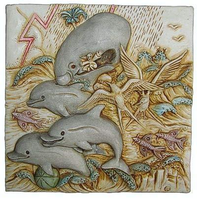 Harmony Kingdom - Picturesque - Dolphin Downs - Tile Figurine