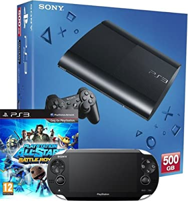 PlayStation 3 Console 500GB Model + PS Vita (Wi-Fi only) console bundle including PS All-Stars Battle Royale (PS3)