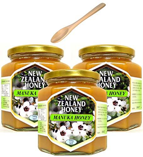 ハニーマザー マヌカハニー 500g ×3個 非加熱・100%純粋天然はちみつ ニュージーランド産 スプーンセット