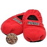 Hot Sox Chaussons Chauffants Micro ondes - Graine de Lin - Rouge - 36/40 + HOUSSE HYGIENE