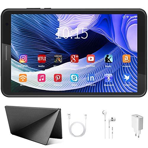 Tablet per Bambini con WiFi da 8 Pollici Android 10 Pie, 3 GB di RAM + 32 GB di ROM / 128 GB Tablet PC in Offerta con Kid-Proof Custodia, Google Play e Gioco Educativo (grigio)