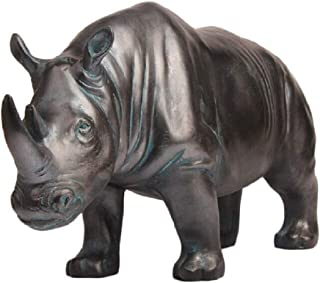 Creative Statues Rhino Figurines and Sculptures Modern Home Decor, Collectible Animal Figurine Outdoor & Indoor Garden Decor