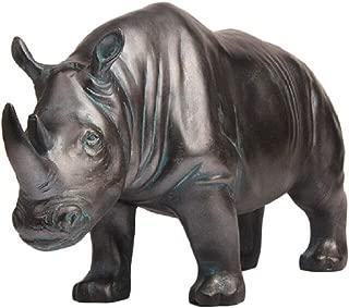 Creative Statues Rhino Figurines and Sculptures Modern Home Decor, Collectible Animal Figurine Outdoor & Indoor Garden Decor