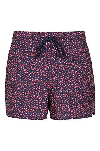 Mountain Warehouse Le Conseil des Femmes modelées abréviation - des Shorts faciles de Bain de Dames de Soin, Shorts réglables de Plage de Taille, Pantalon Court léger Bleu Marine 36