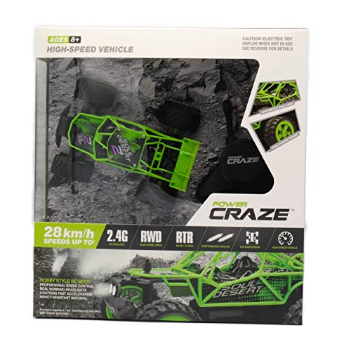 Power Craze High Speed Mini RC Car - Green