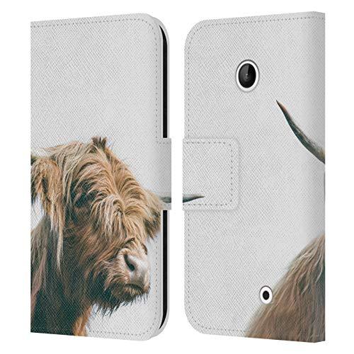 Head Case Designs Licenza Ufficiale Patrik Lovrin Maestosa Mucca dell'altopiano Portraits Animale Cover in Pelle a Portafoglio Compatibile con Nokia Lumia 630