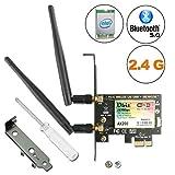 Carte WiFi Gigabit Ubit, 802.11 AX/AC superspeed 2974Mbps, Wi-FI 6 AX200, Carte réseau sans Fil PCIe Double Bande (5 GHz /...