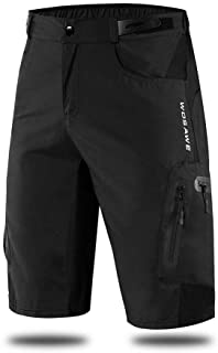 WOSAWE Men's Baggy Cycling Shorts Quick Dry Mountain Bike Bottoms MTB Padded Shorts with 7 Pockets
