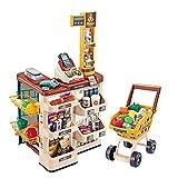 Simulación de Simulación para niños, supermercado, compras, distribuidor automático, contador de la compra, juego de supermercado, explorador de caja de juguete, B