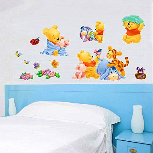 floolter Cartoon Tiere Winnie Pooh Wandaufkleber Für Kinder Kinderzimmer Wohnkultur Bär Kindergarten Wandtattoos Dekoration Baby Poster 50 * 70 cm