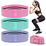 FUUNSOO Fabric Resistance Bands for Legs and Butt, Booty Training Bands Non-Slip Loop Exercise Bands...