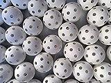 Realstick - Pelota de floorball (24 unidades), color blanco