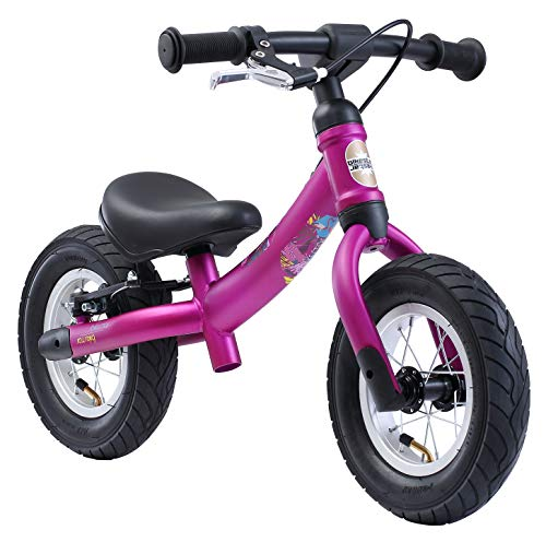 BIKESTAR Mitwachsendes Kinder Laufrad Lauflernrad Kinderrad für Mädchen ab 2 - 3 Jahre | 10 Zoll Sport Flex Kinderlaufrad | Berry | Risikofrei Testen