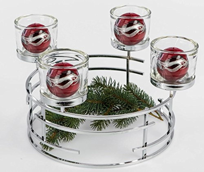 tienda de venta en línea Dekojohnson Corona de Adviento Corona de Navidad de Acero Inoxidable Inoxidable Inoxidable con Cuatro Cristales, 36cm  popular