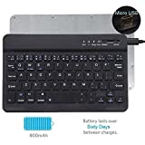 Tempo QWERTY Italiano Layout Tastiera Wireless Bluetooth Keyboard 7' Compatibile Qualsiasi Android/Windows/IOS-Smartphone Tablet,Samsung Galaxy Tab,Google Nexus,Amazon Fire-nero