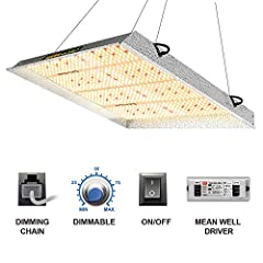 UPGRADED COMMERCIAL LED GROW LIGHT, easy dimming & daisy chain function, up to 15 multi-lights connected, convenient main light controlled, especially come with 2 waterproof Mean Well Drivers, auto sensing power supply works on both 120VAC and 240VAC...