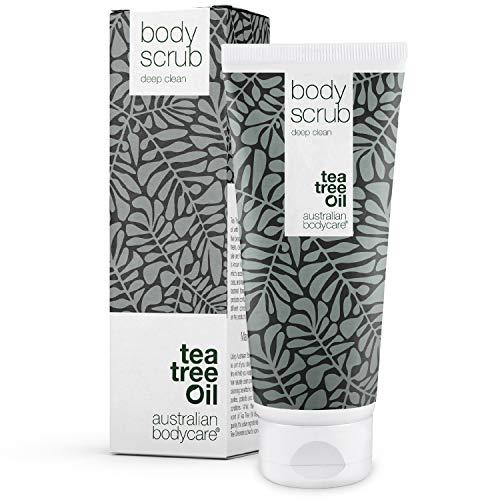 Australian Bodycare Body Scrub 200ml | Teebaumöl Körperpeeling bei Pickeln auf dem Rücken & Körper, Unreiner Haut & Eingewachsenen Haaren | Auch als Fußpeeling zur...