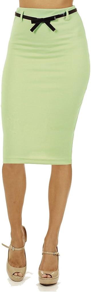 Junior High Waist Below Knee Pencil Skirt Skinny Fit