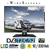 Gelhard GTV-1642 LED TV 16' Full HD SAT Fernseher40cm, DVB-S2 /-C/-T/-T2 230V + 12 + 24 Volt Wide Screen Energieeffizienzklasse A für Wohnmobil, Truck, LKW