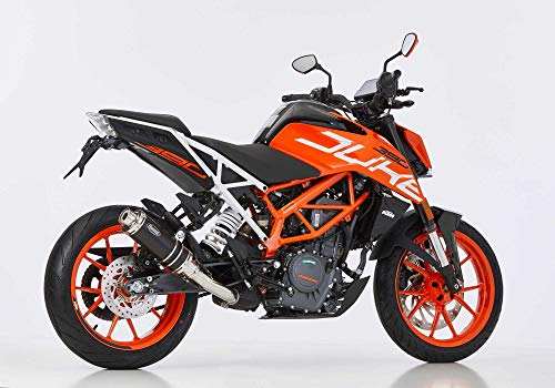 Auspuff kompatibel mit KTM 125 Duke 2017-2019 HURRIC Supersport Slip on Ersatzdämpfer (1-1) Super Short