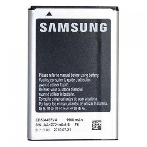Original & Neu - Samsung EB504465VU - Li-Ion - 1500 mAh für Samsung GT-B7300 Omnia Lite / GT-B7330 Omnia Pro / GT-B7610 Omnia Pro / GT-B7620 Giorgio Armani / GT-i5700 Galaxy Spica / GT-i5800 Galaxy 3 / GT-i5801 Galaxy Naos / GT-i6410 (M1 Vodafone 360) / GT-i8320 (H1 Vodafone 360) / GT-i8700 Omnia 7 / GT-i8910 HD / GT-S8500 Wave / GT-S8530 Wave II / Player HD Vodafone 360 H1 / 360 M1 Boite blanche (Frustation free Packaging)