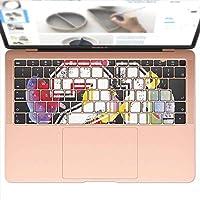 igsticker MacBook Air 13inch 2018 専用 キーボード用スキンシール キートップ ステッカー A1932 Apple マックブック エア ノートパソコン アクセサリー 保護 012318 英語 ロゴ 数字