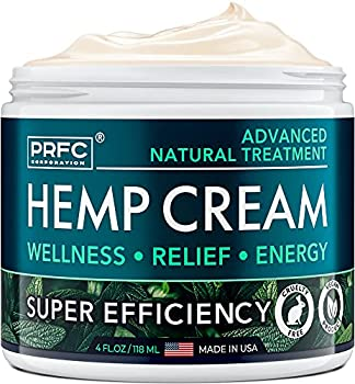 Hemp Cream - Made in USA - 4 fl oz - Natural Cream for Discomfort in Knees Joints and Lower Back - Hеmp Oil Extract Cream with Arnica & Menthol